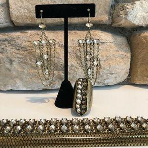 BCBGeneration Rhinestone Bronze Jewelry Set